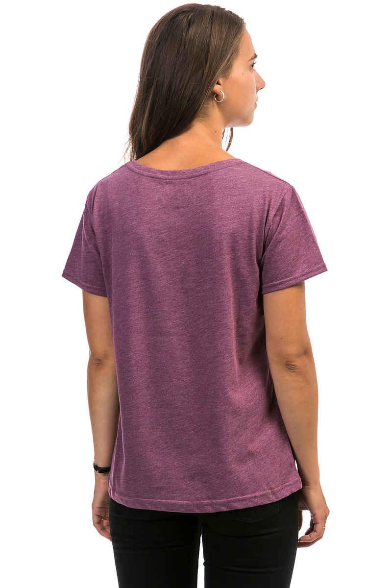 Cleptomanicx Floral Box T-Shirt women (heather dark berry)