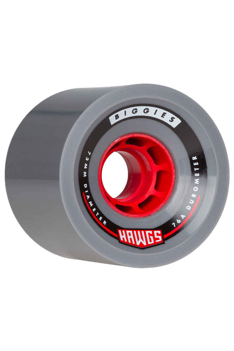 Hawgs Biggies - Red Core 73mm 76A Roue (grey) 4 Pack