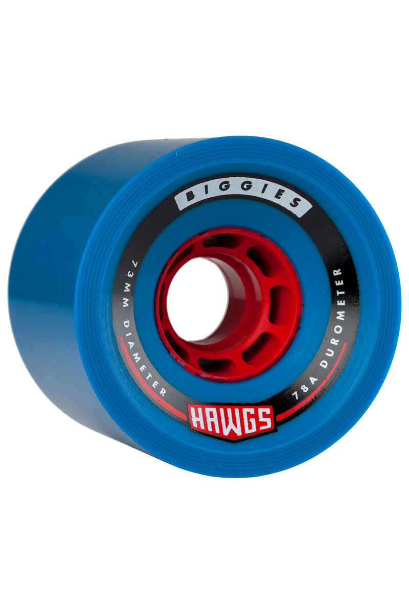 Hawgs Biggies - Red Core Roue (blue) 4 Pack 73mm 78A
