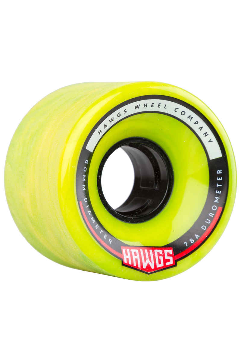 Hawgs Chubby 60mm 78A Wheels (green yellow) 4 Pack