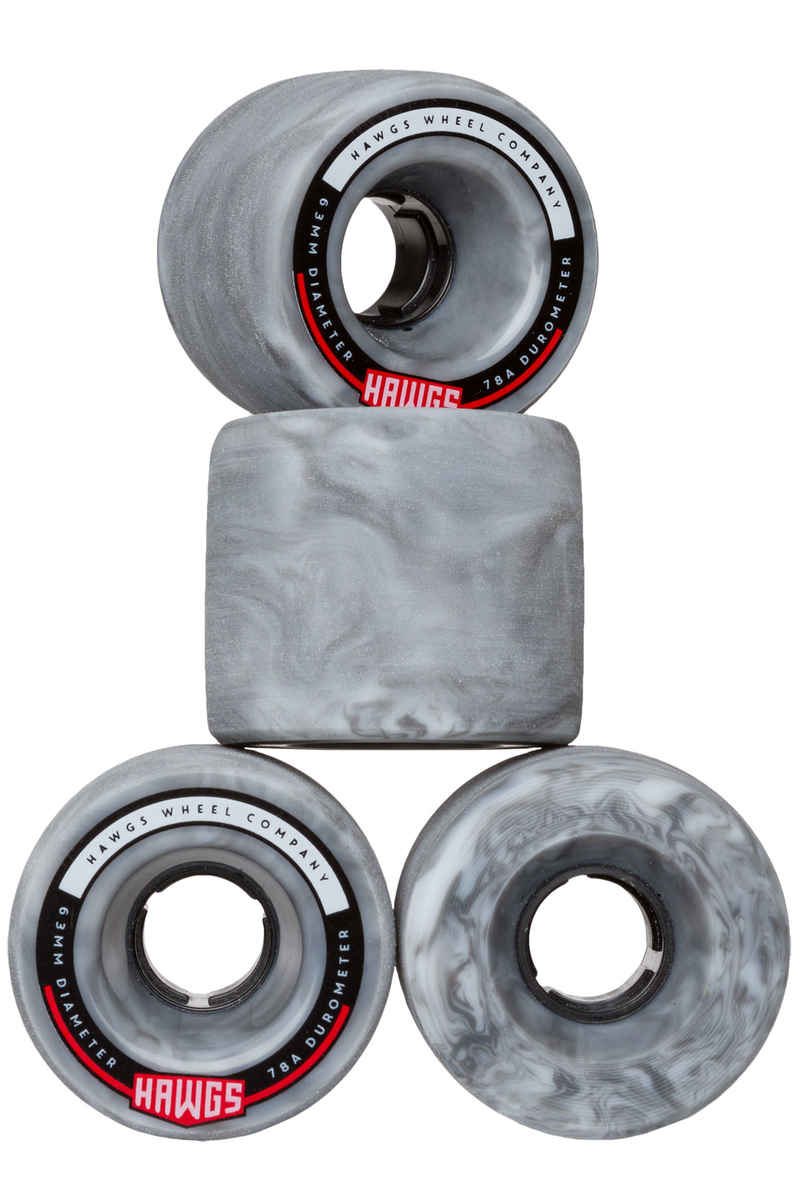 Hawgs Fattie Rollen (grey white swirl) 4er Pack 63mm 78A