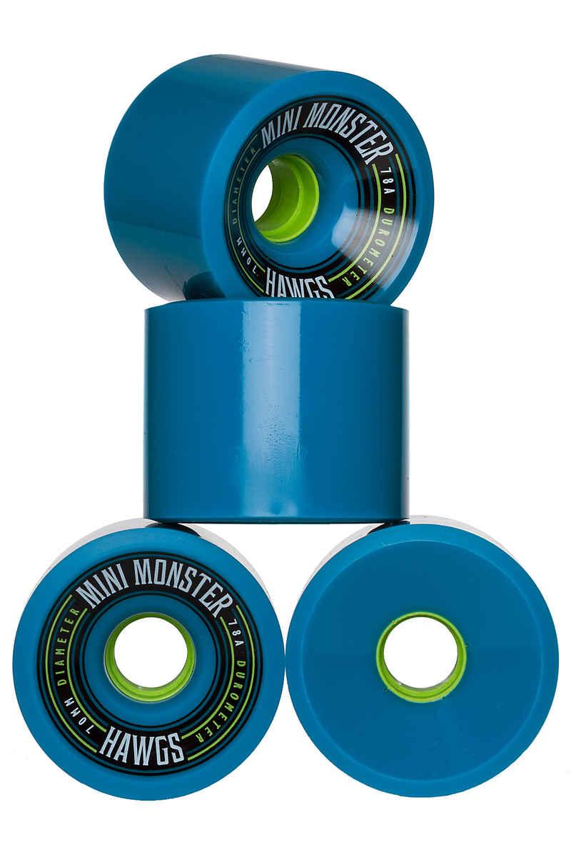 Hawgs Mini Monsters Wheels (blue) 4 Pack 70mm 78A