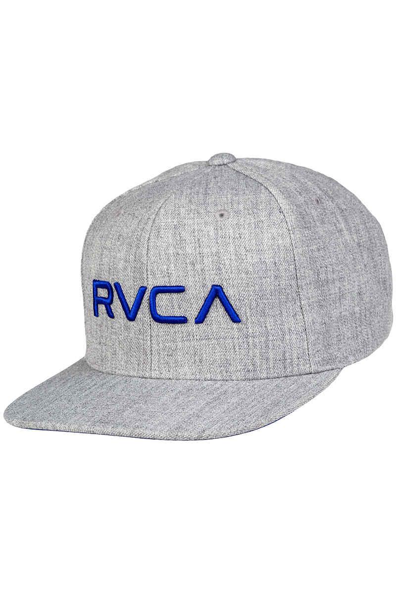 RVCA Twill III Snapback Cap (grey heather royal)