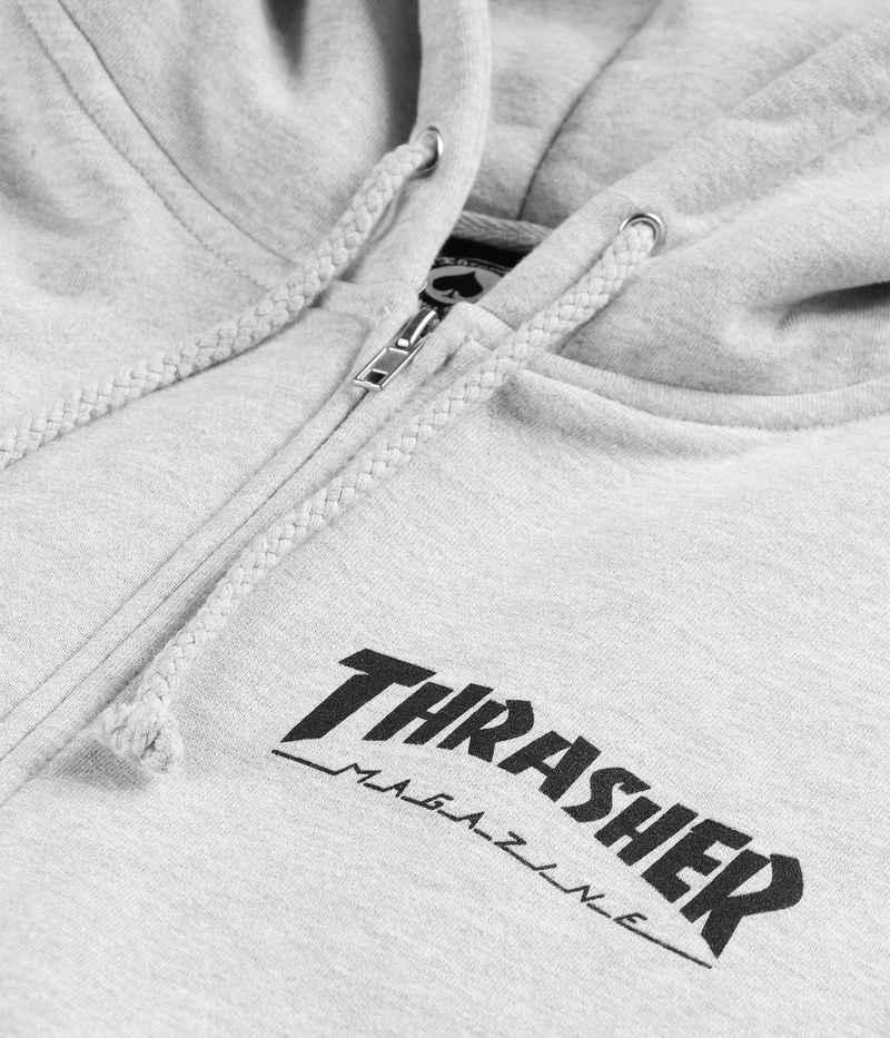 Thrasher Logo Sudadera con cremallera (grey)