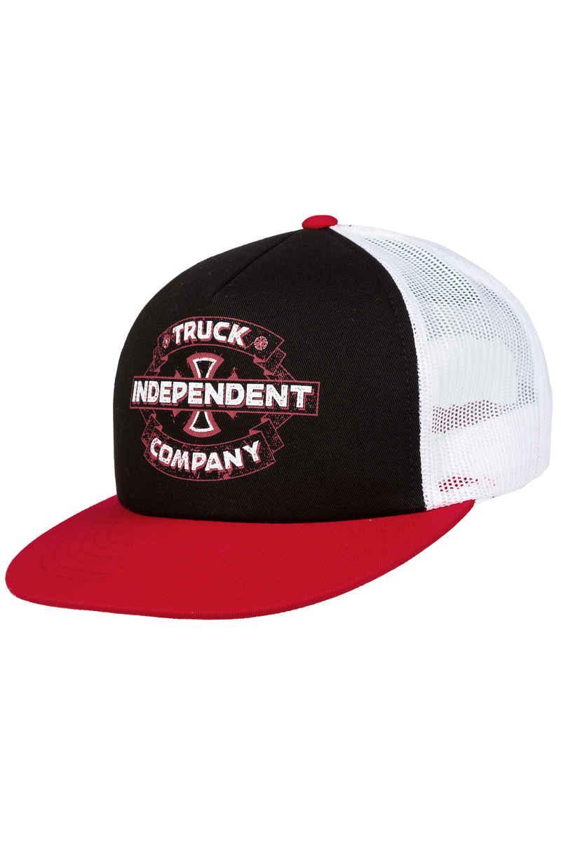 Independent Garage Trucker Cap (black white red)