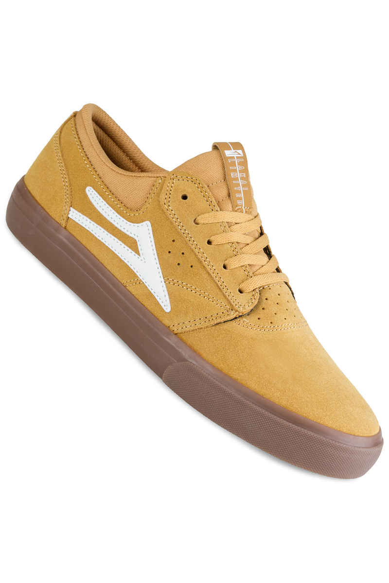 Lakai Griffin Suede Shoes (gold)