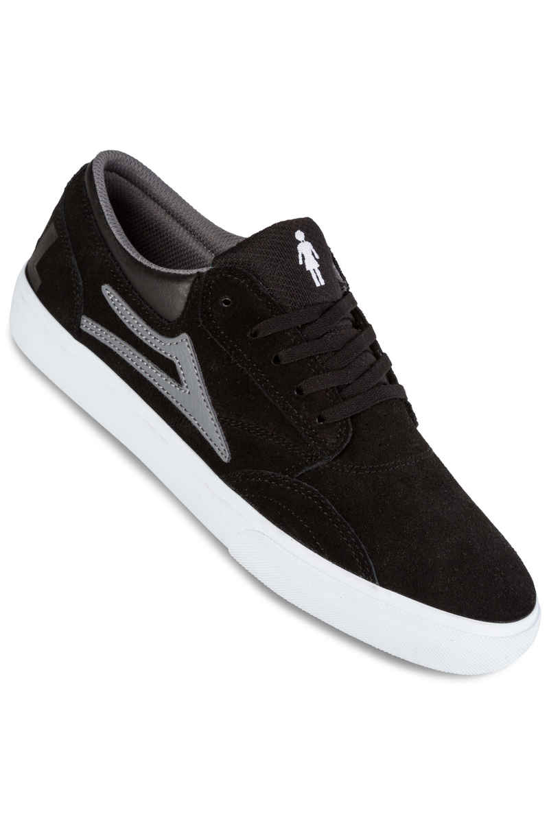Lakai x Girl Griffin Suede Scarpa (black grey)