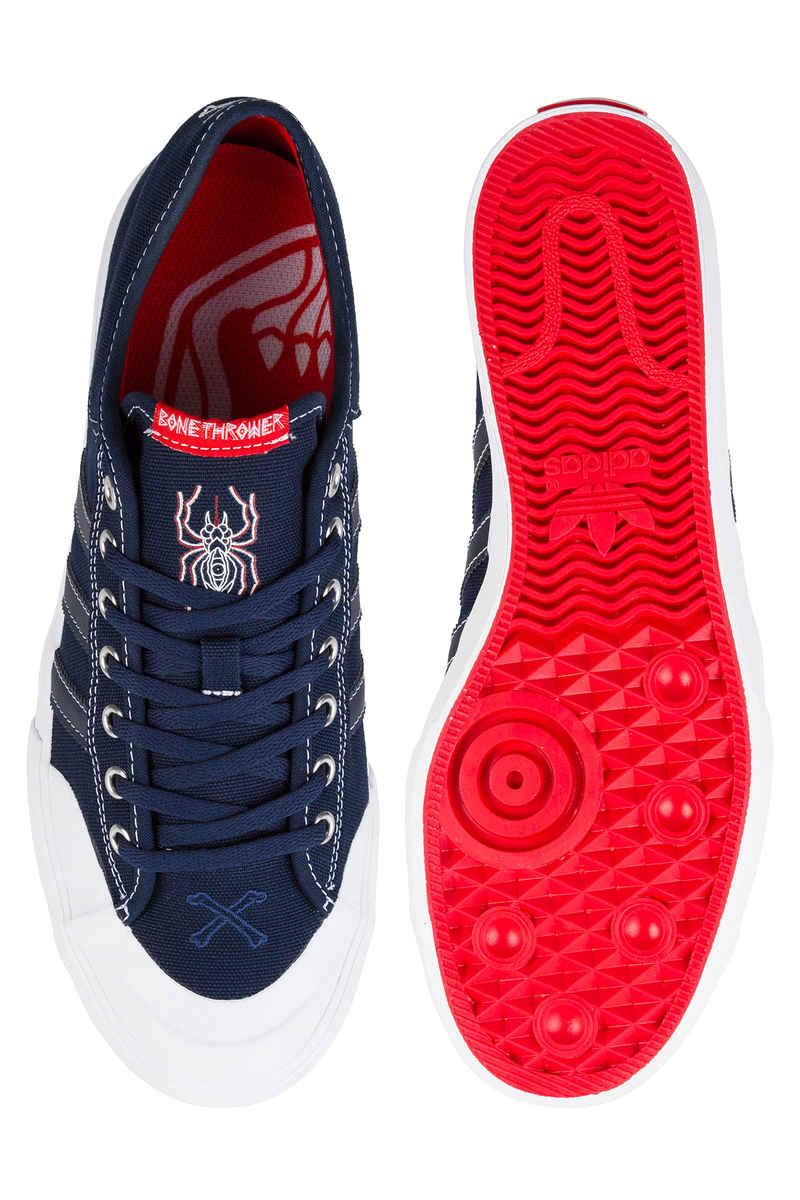 adidas x Bonethrower Matchcourt Schuh (collegiate navy white red)