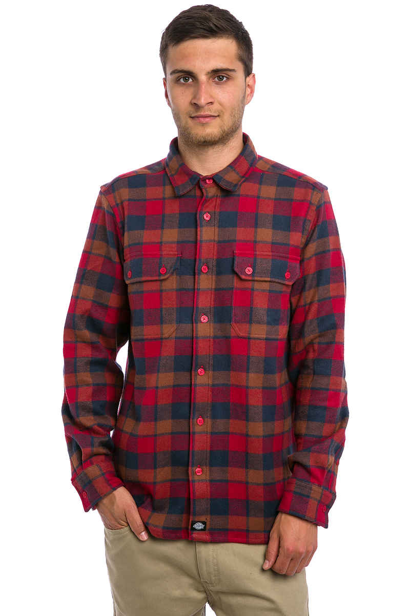 Dickies Cooperstown Shirts en Flanelle (red)