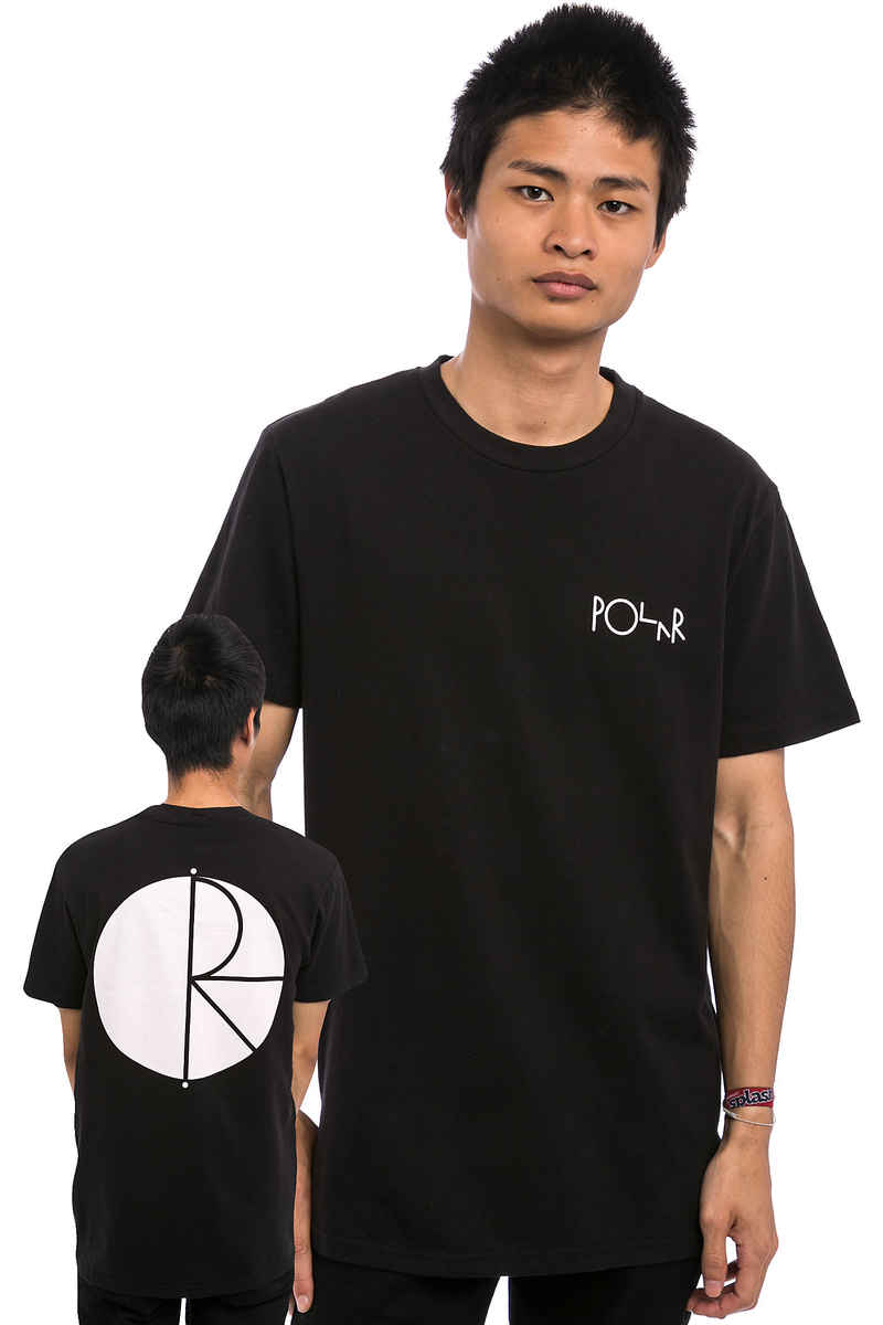 Polar Skateboards Fill Logo Camiseta (black white)