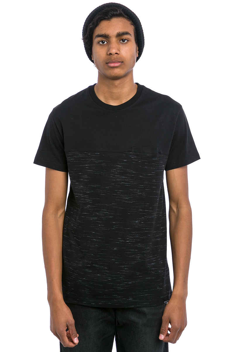 Iriedaily Mesh Block T-Shirt (black melange)