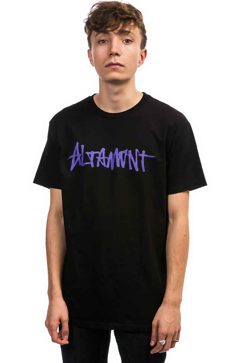 Altamont One Liner T-Shirt (black purple)