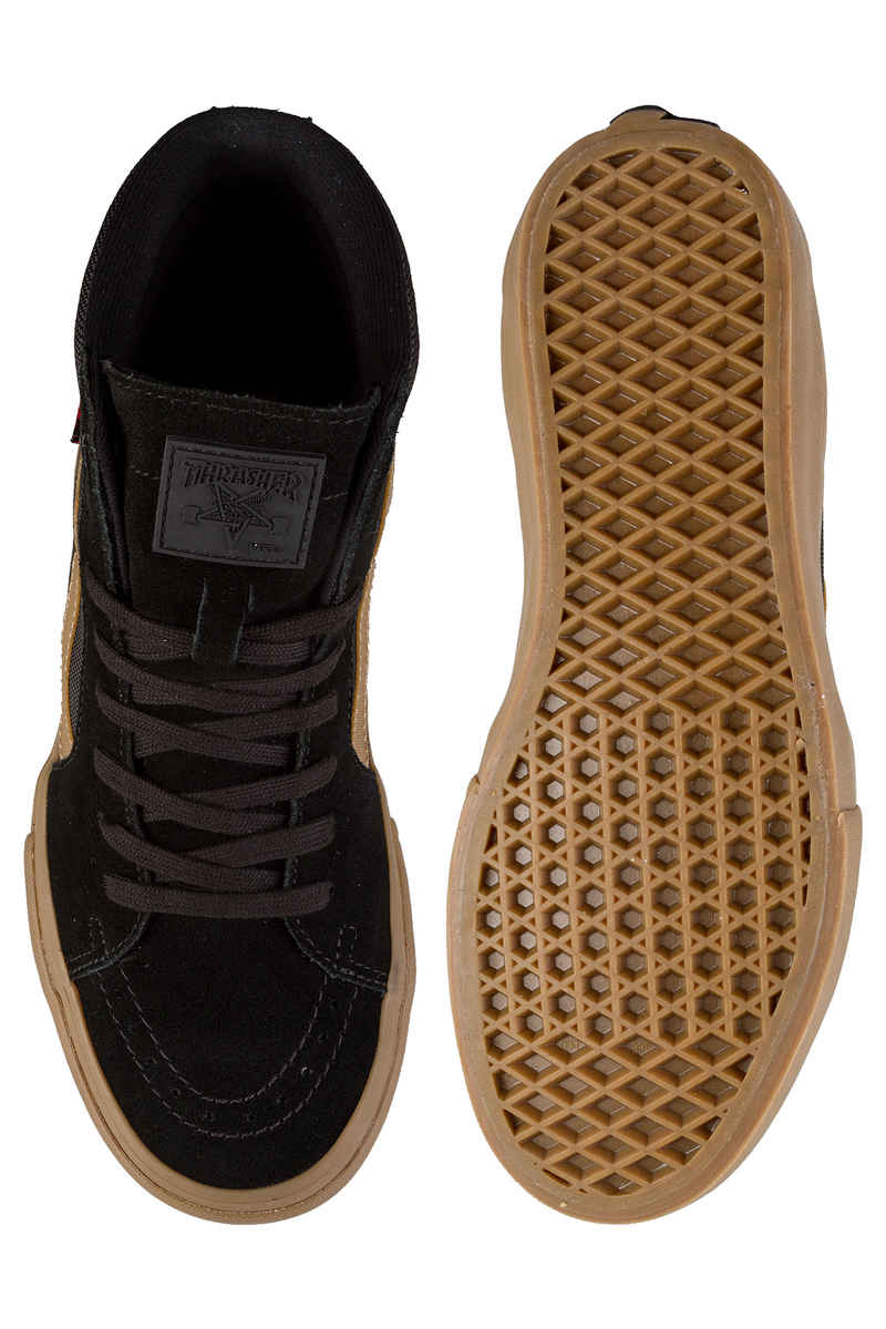 42ce099300b Vans x Thrasher Sk8-Hi Pro Shoes (black gum) buy at skatedeluxe