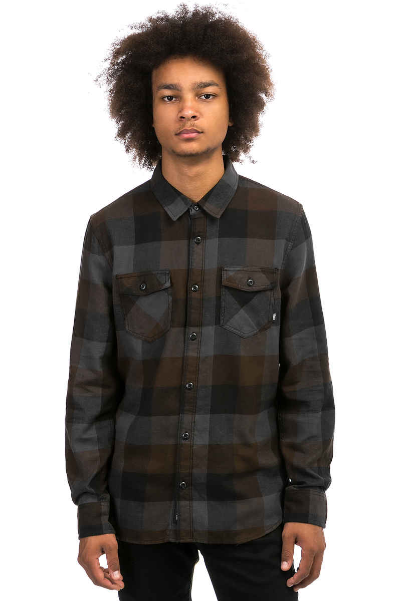 Vans Box Flannel Hemd (black asphalt)