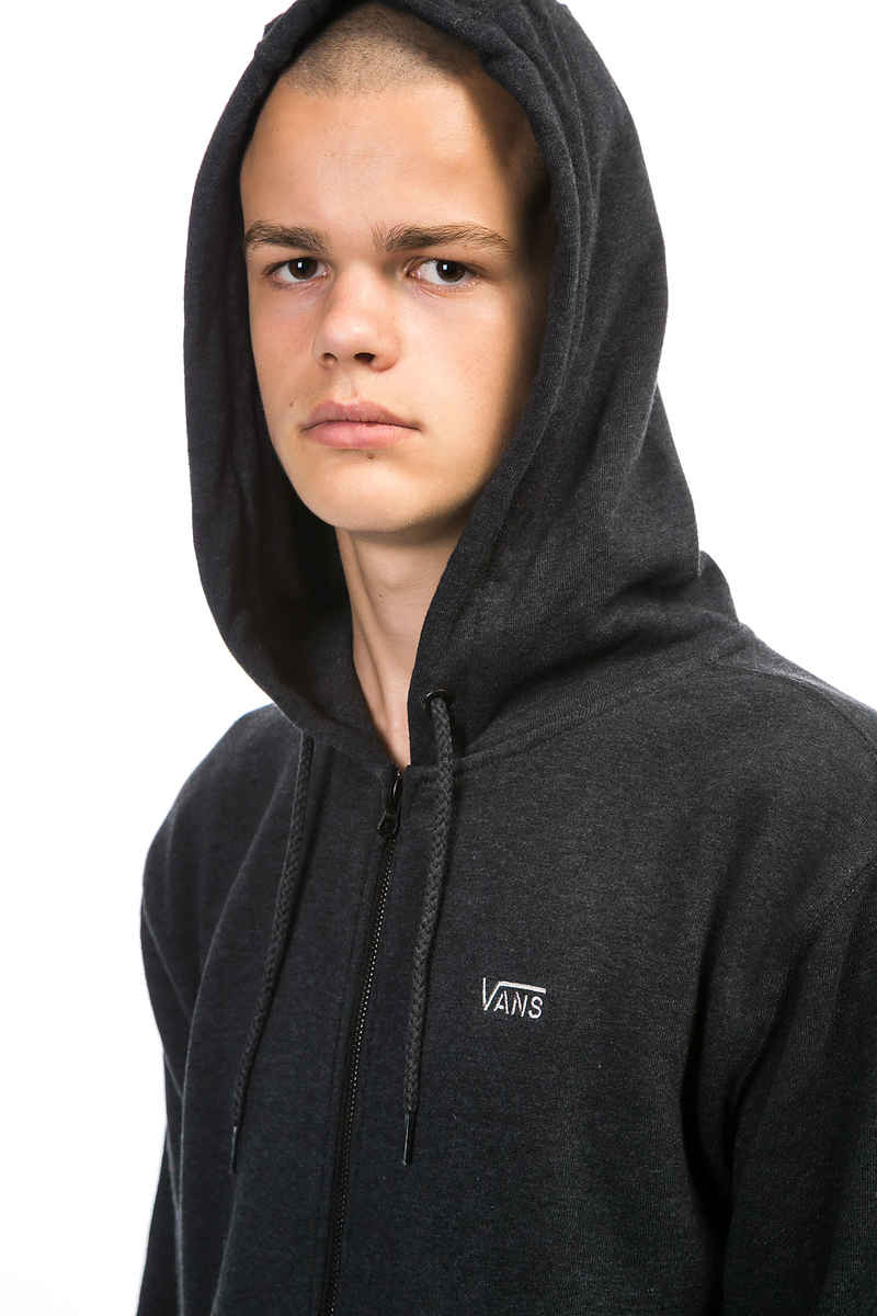 Vans Core Basics IV Zip-Sweatshirt avec capuchon (black heather)
