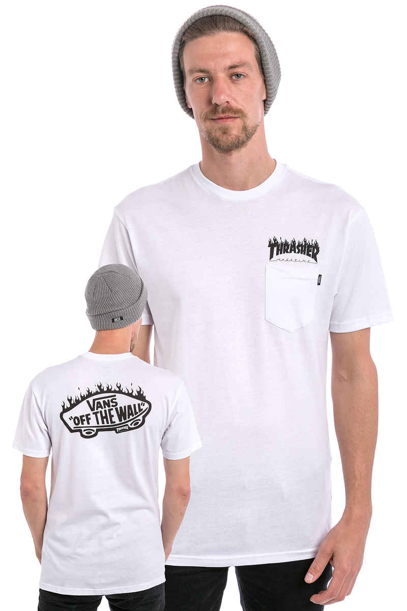 Vans x Thrasher Pocket T-Shirt (white)