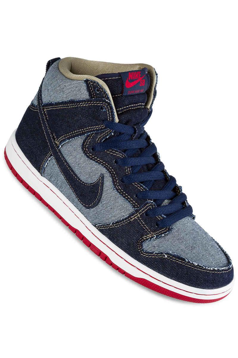 Nike SB Dunk High OG Reese Forbes Denim QS Shoes (midnight navy)
