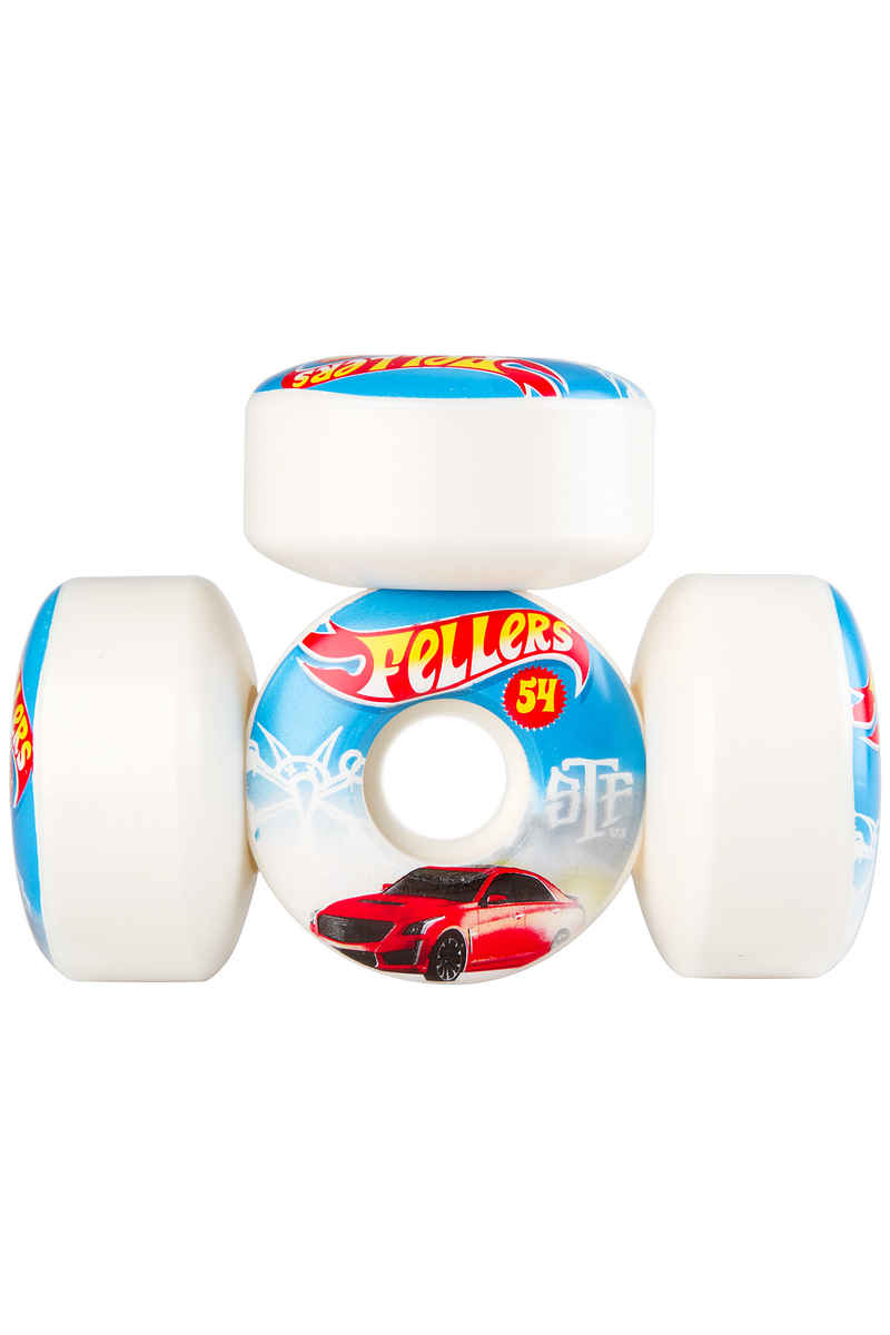 Bones STF Fellers Hot Wheels V3 Wheels (white) 54mm 103A 4 Pack