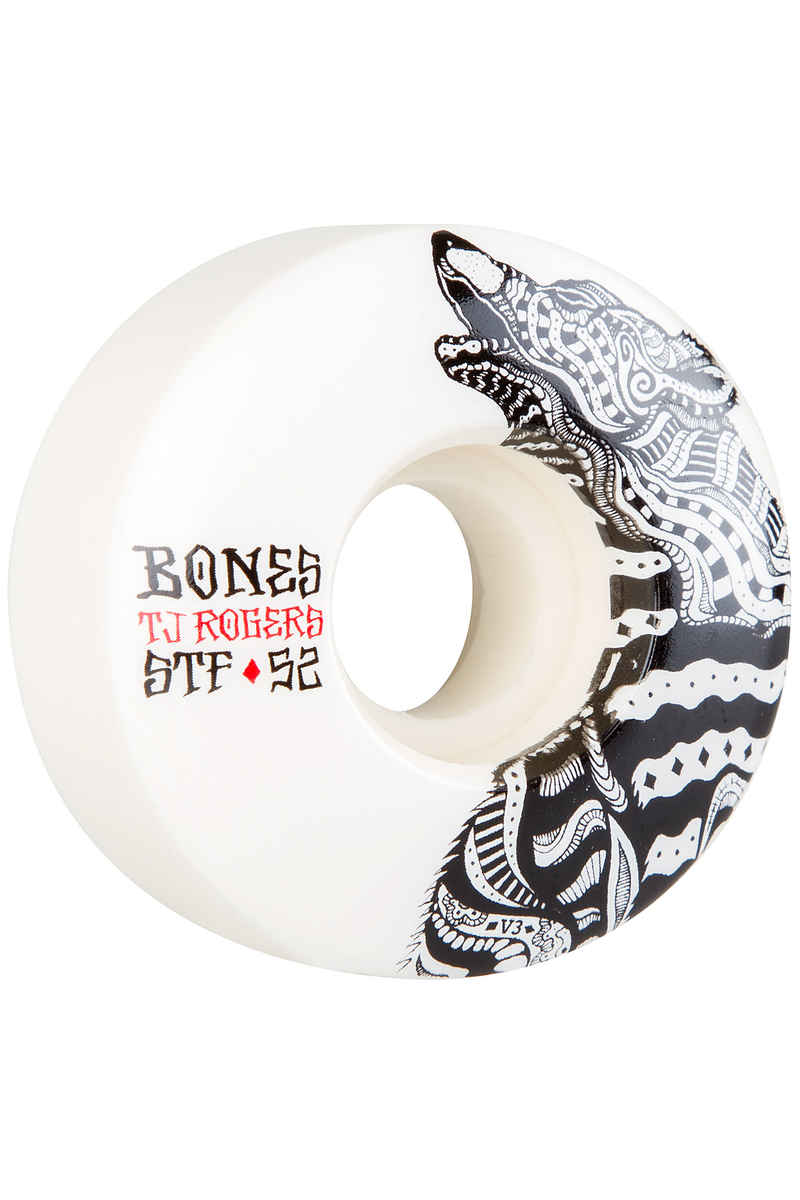 Bones STF Rogers Wolf V3 Wheels (white) 52mm 103A 4 Pack