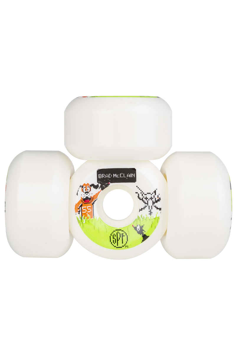 Bones SPF McClain Duck Hunt P5 Roue (white) 55mm 104A 4 Pack