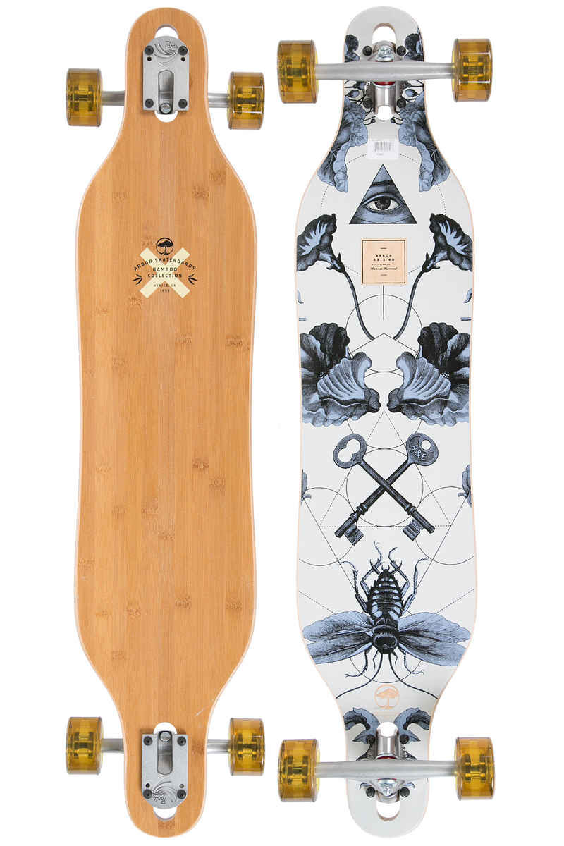 "Arbor Axis Bamboo 40"" (101,6cm) Longboard-completo 2017"