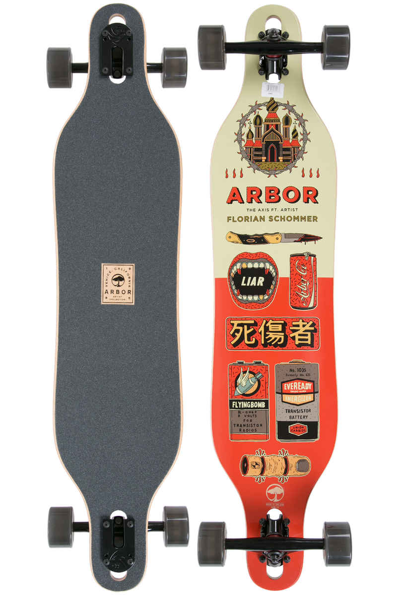 "Arbor Axis Artist Collection 40"" (101,6cm) Longboard-completo"