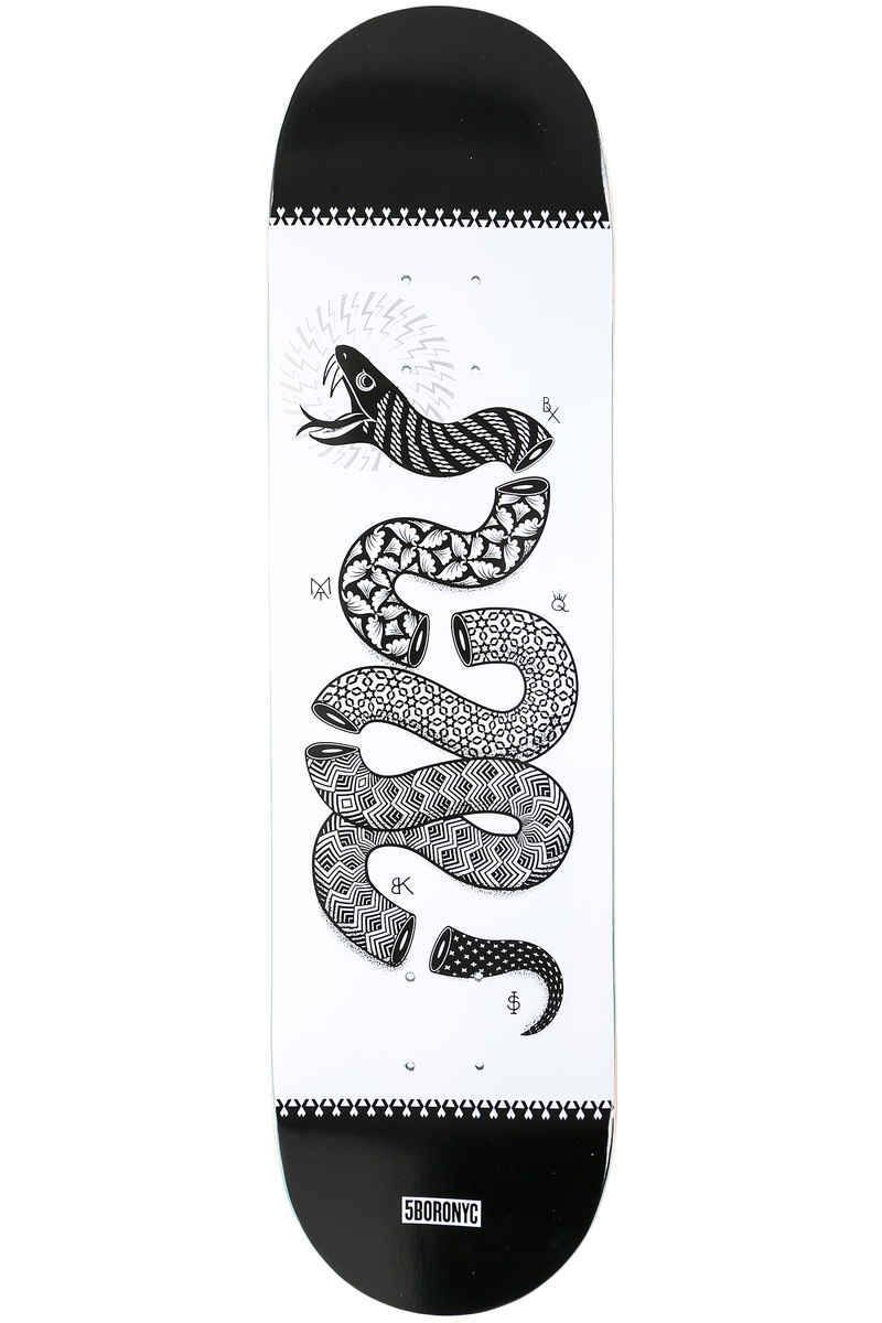 "5BORO Snake Art Series 8.25"" Planche Skate (black white)"
