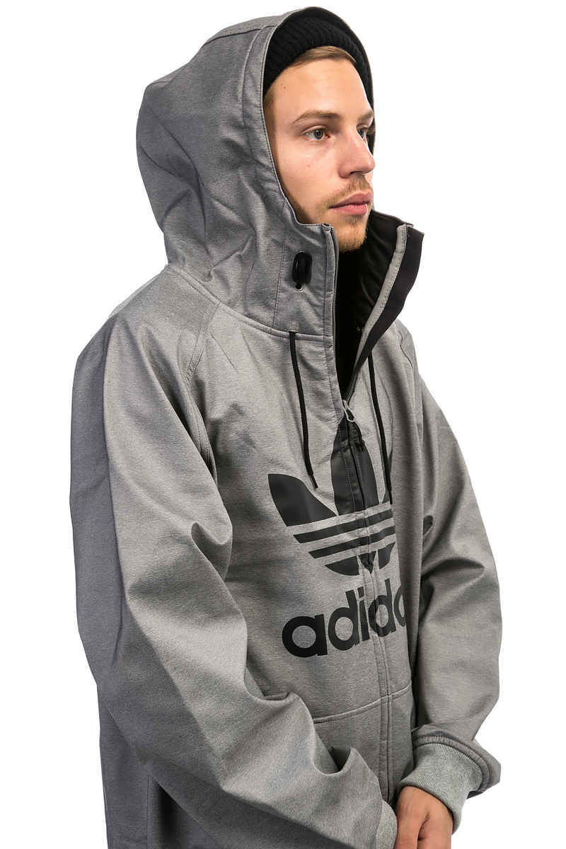 adidas Greeley Softshell Snowboard Jacke (core heather)