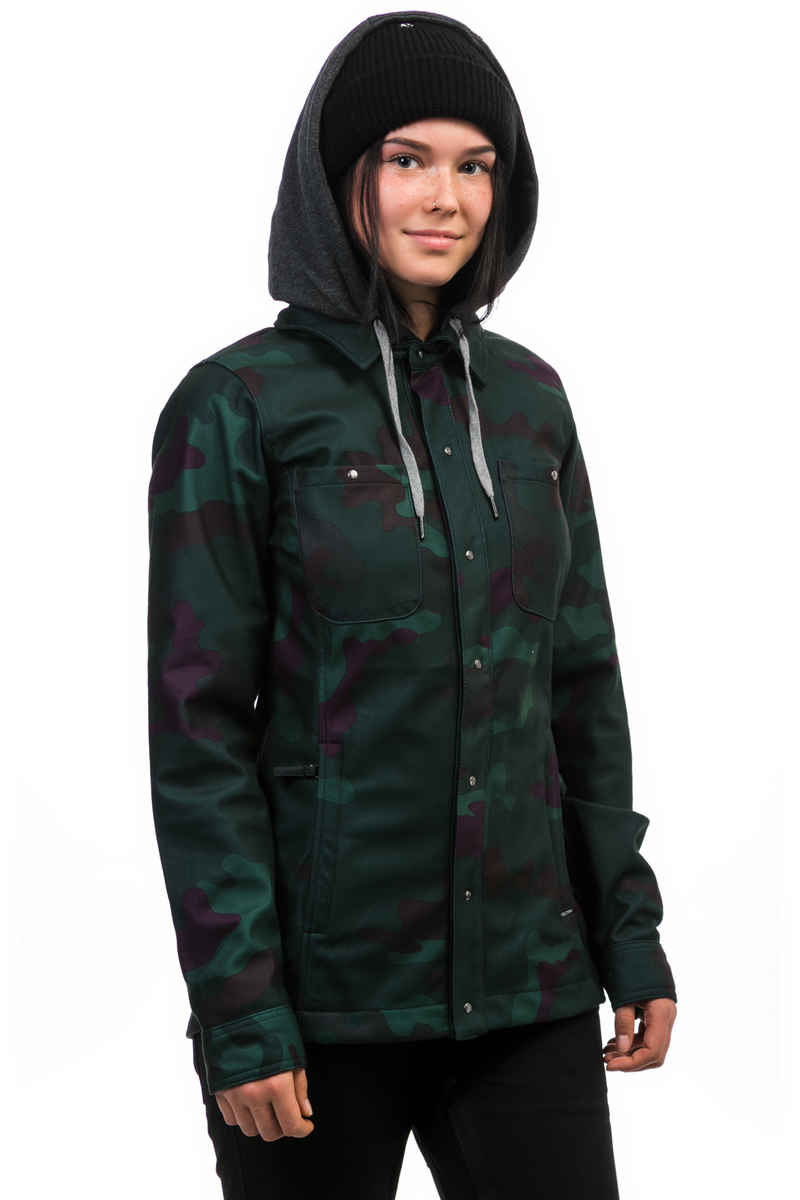 Volcom Circle Flannel Snowboard Jas women (dark camo)