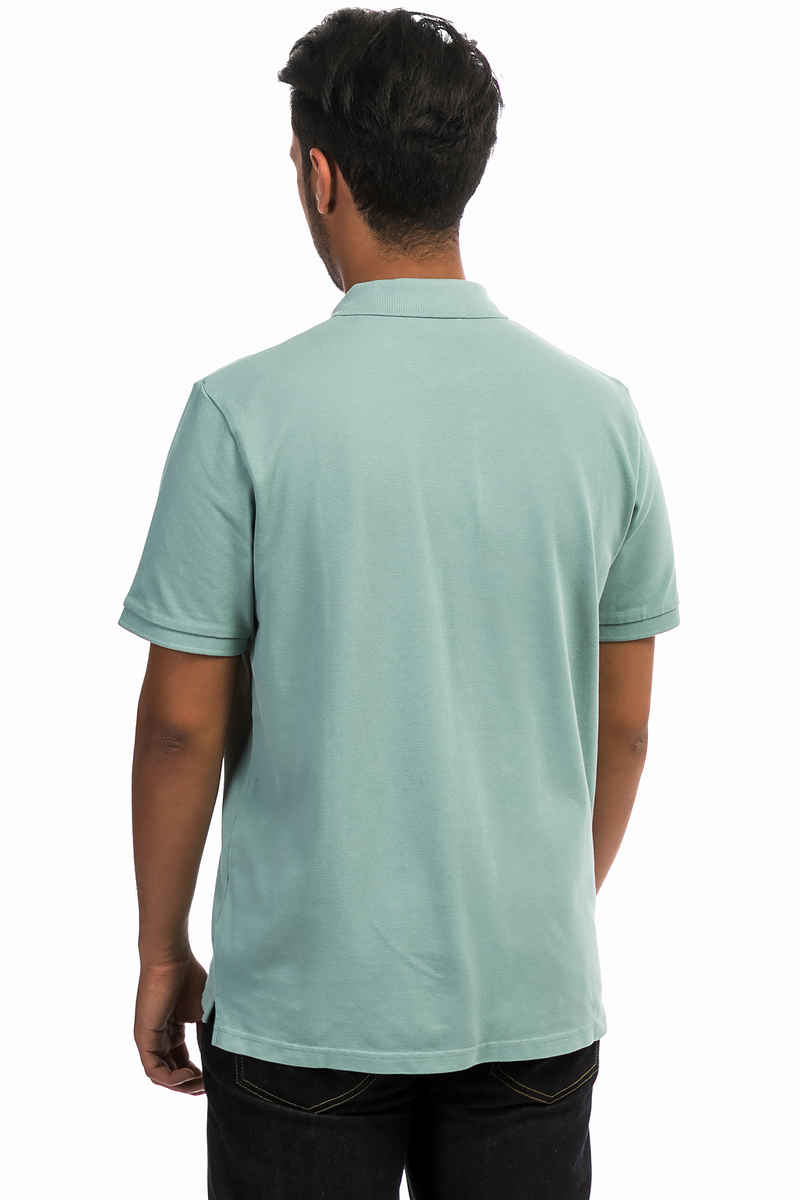 Carhartt WIP C-Logo Polo-Shirt (soft green wax)