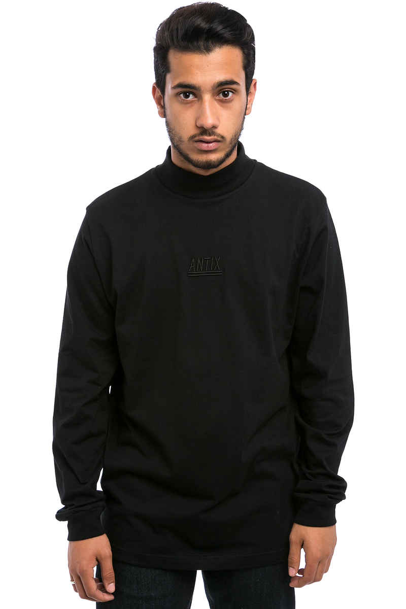 Antix Mock Neck Longsleeve  (black)