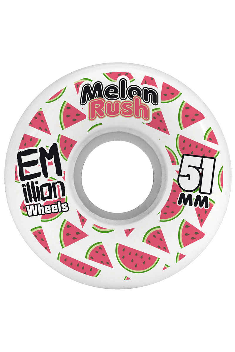 EMillion Melon Rush 51mm Roue (white) 4 Pack