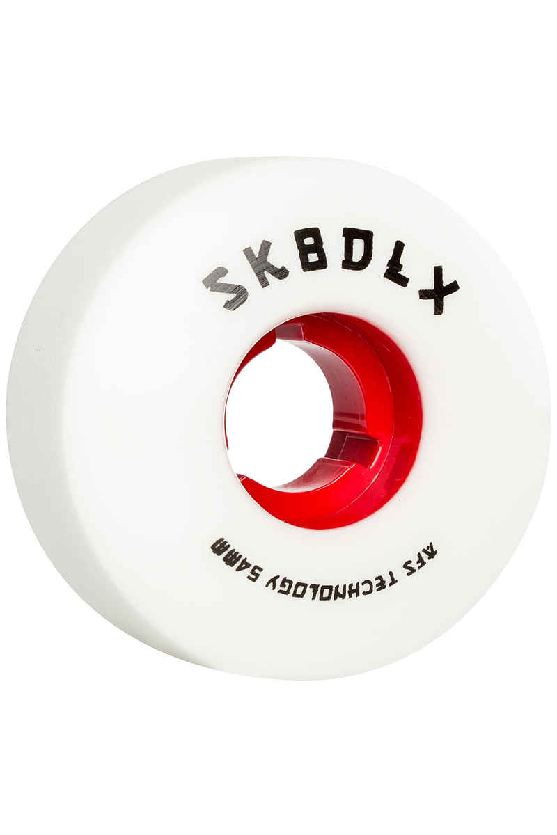SK8DLX AFS Japan Series Wheels (white red) 54mm 100A 4 Pack