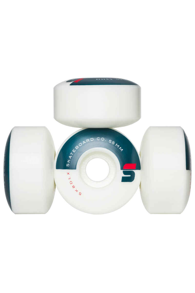 SK8DLX Athletic Series Rollen (white) 55mm 100A 4er Pack