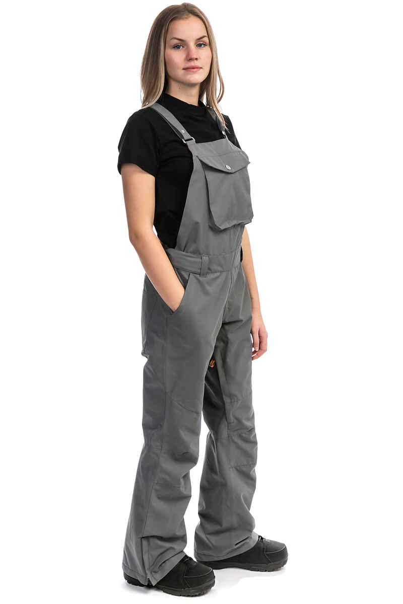 WearColour Ride Bib Snowboard broek women (rock grey)