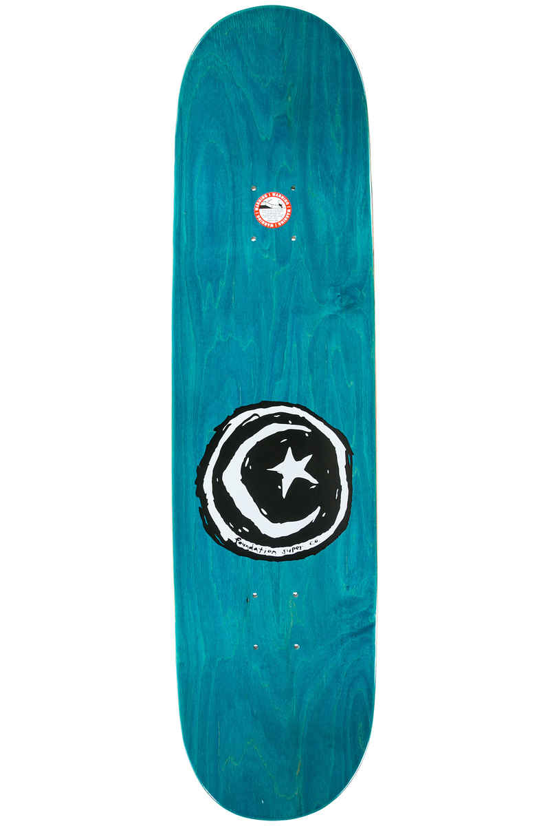 """Foundation Star & Moon Waves 8.125"""" Planche Skate (red blue)"""