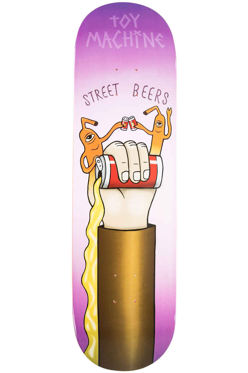 "Toy Machine Finger Puppet Street Beers 8.5"" Planche Skate (multi)"