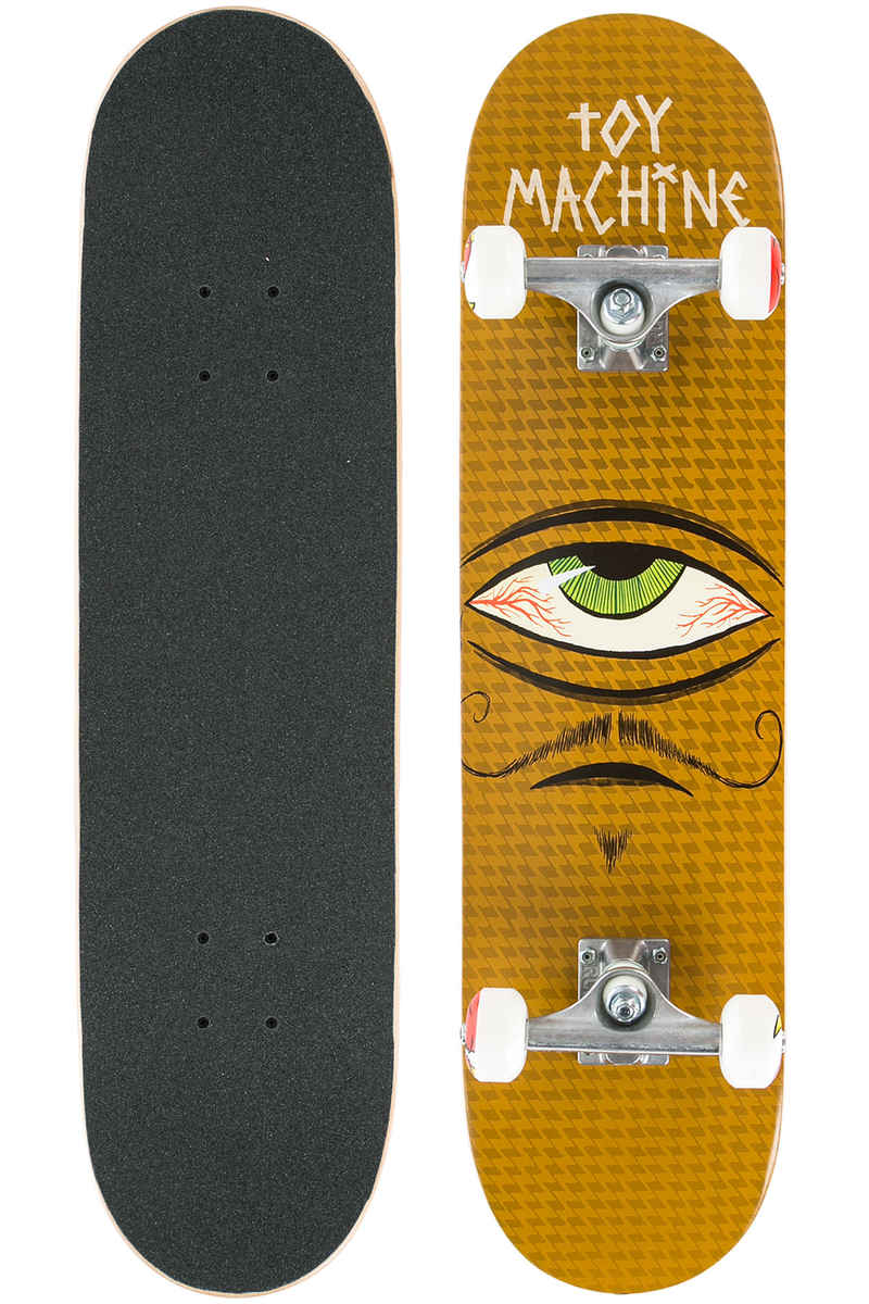 "Toy Machine Sect Eye Mustachio 7.75"" Komplettboard (brown)"