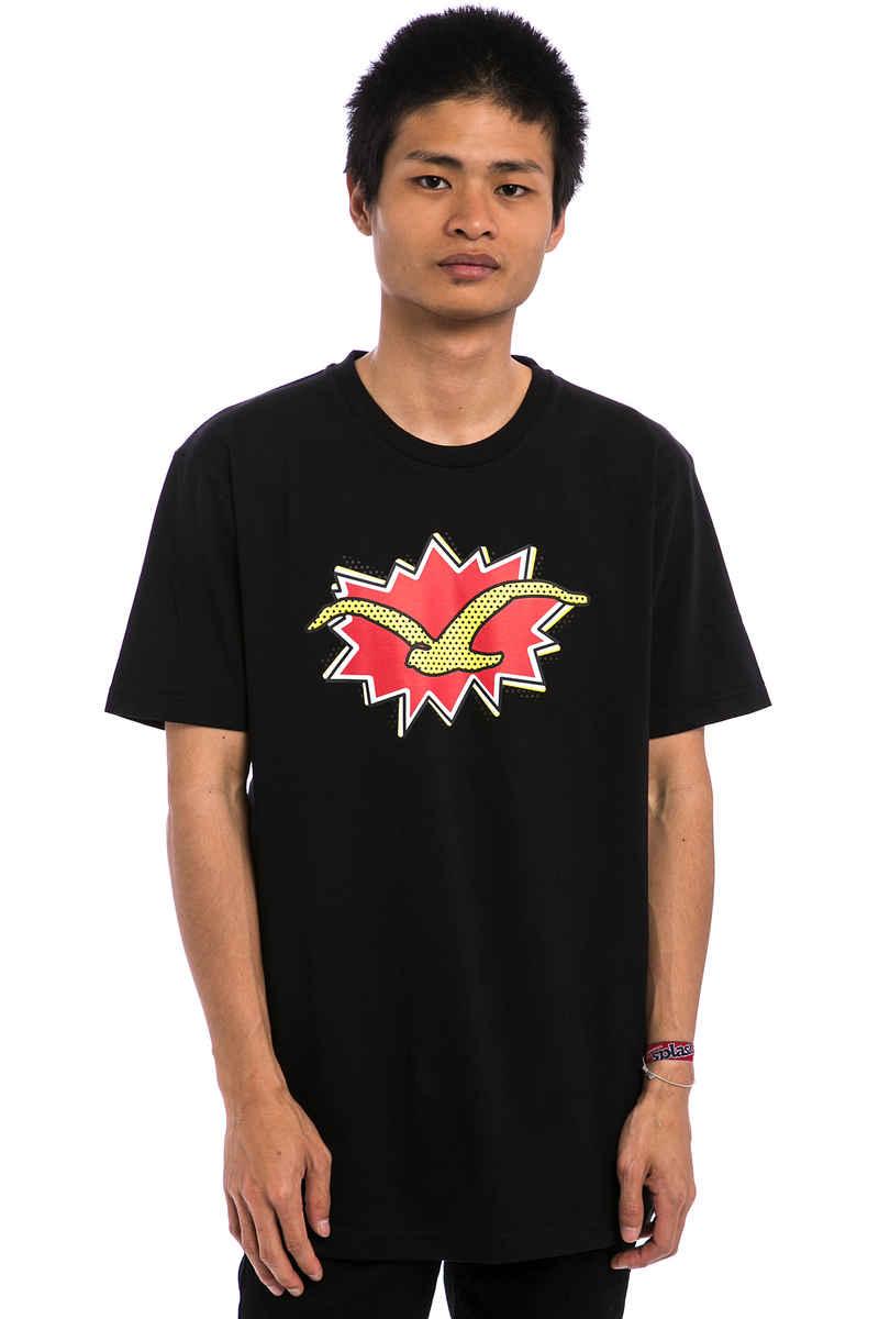 Cleptomanicx Pop Möwe T-Shirt (black)