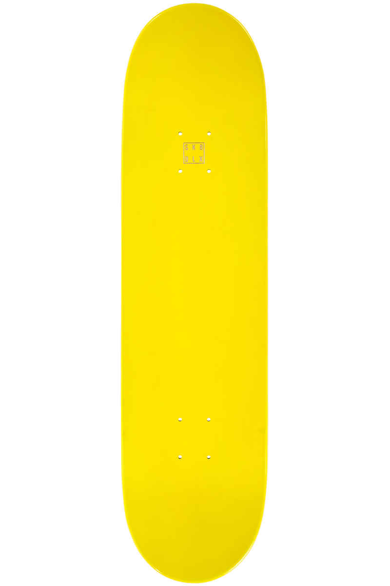 """SK8DLX Face Series 8.25"""" Deck (yellow)"""