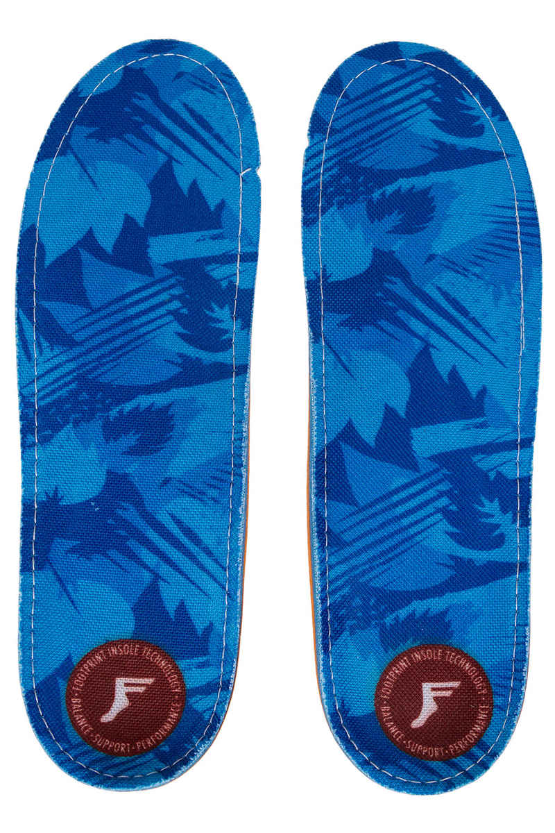 Footprint Camo King Foam Orthotics Low Plantilla (blue)