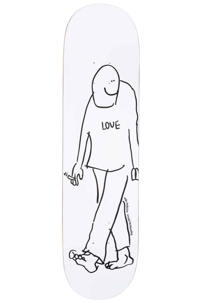 "Krooked Anderson Love 8.06"" Deck (white)"
