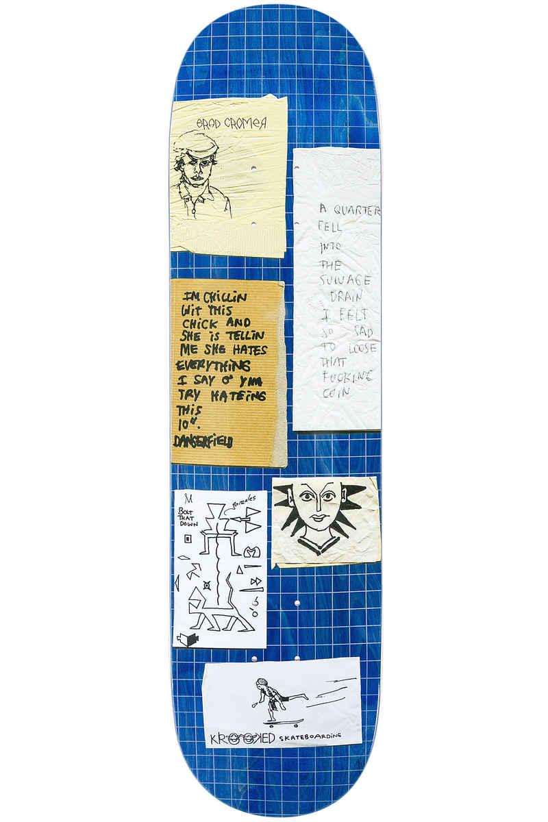 """Krooked Cromer Quarter 8.18"""" Planche Skate (blue)"""