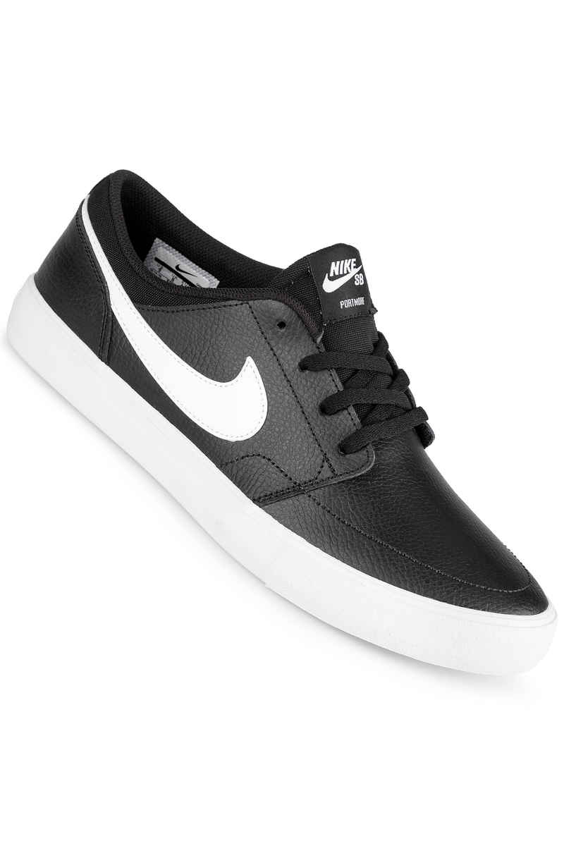 Nike SB Solarsoft Portmore II Premium Shoes (black white)