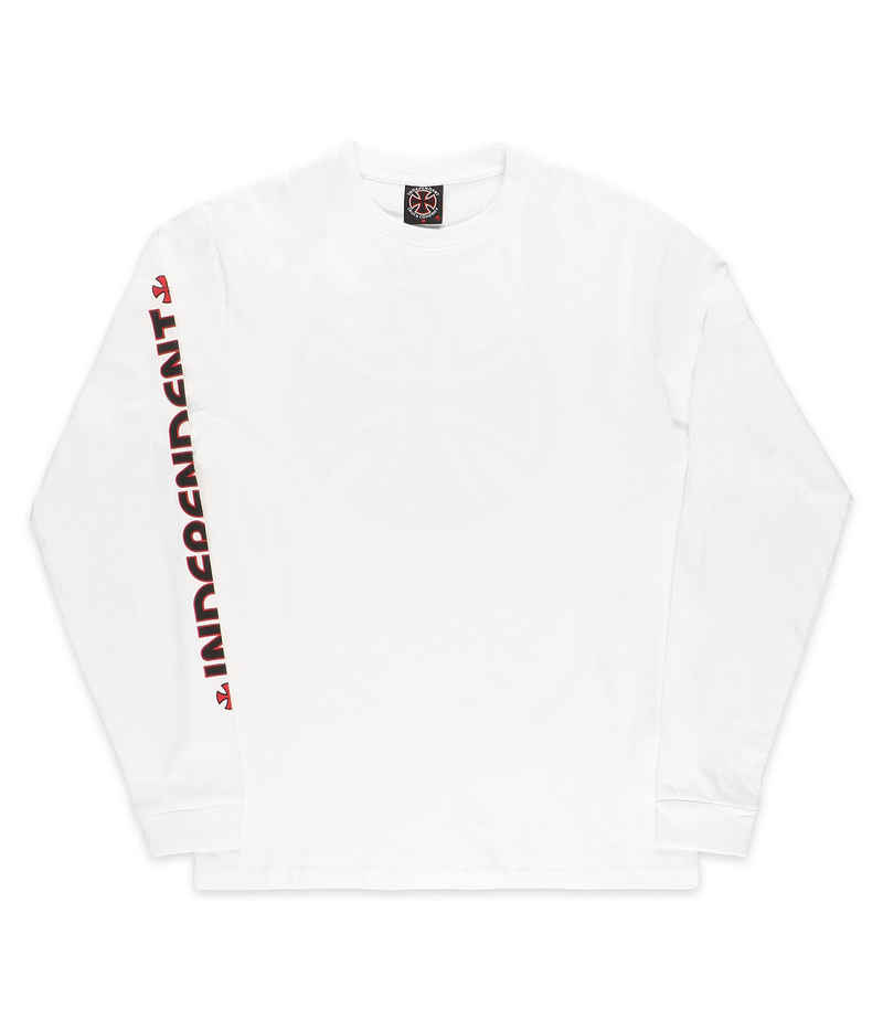 Independent Bar Cross Longsleeve (all white)