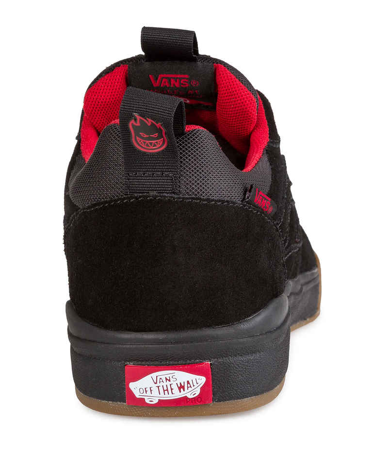 vans ultrarange black red