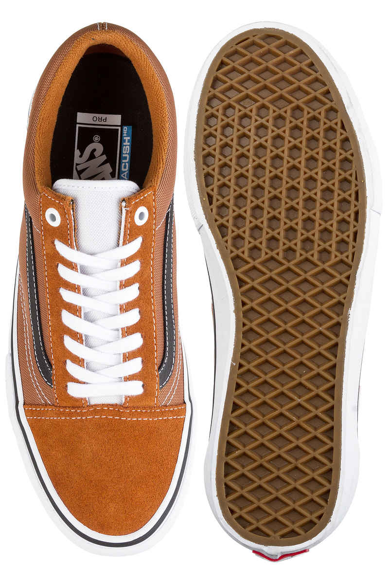 Vans Old Skool Pro Shoes (glazed ginger black white) buy at skatedeluxe 679ba1000