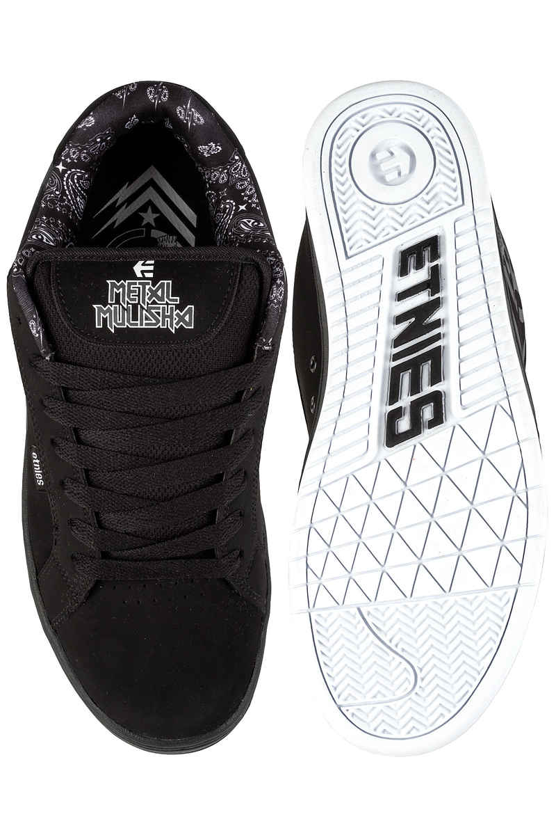 Etnies Metal Mulisha Fader Schoen (black white)