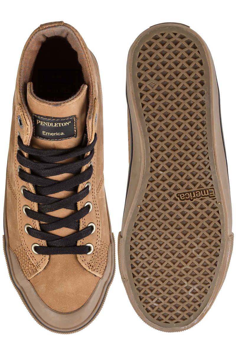 Emerica x Pendleton Indicator High Shoes (brown gum)