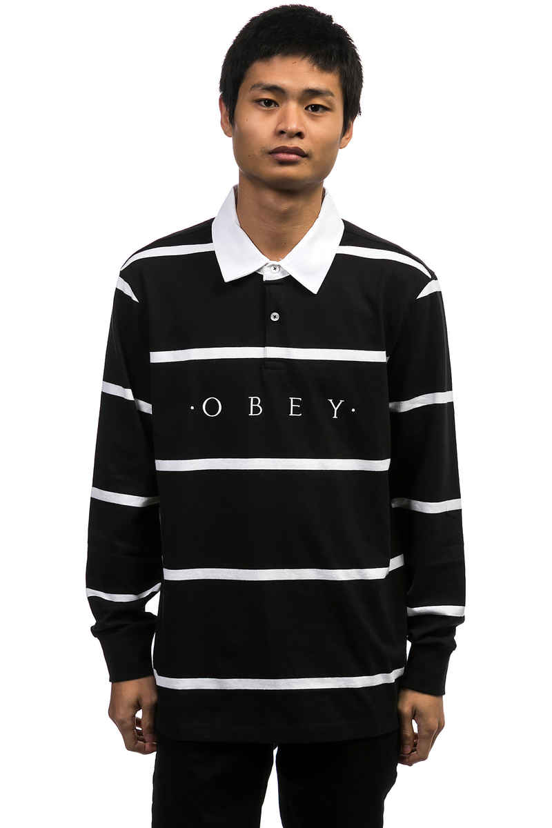Obey Bridgewater Polo Longues Manches (black multi)
